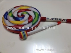 Heat transfer film for lollipop drum
