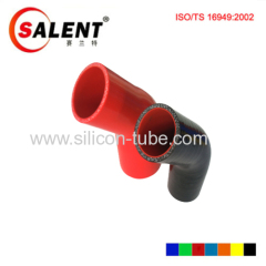 elbow 45 degree reducer 76mm to 6mm silicone hose