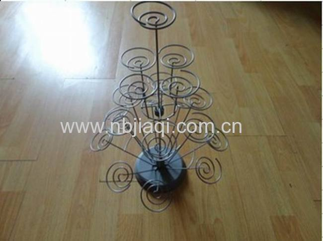 metal wire cake display rack/19 cup wire cake rack
