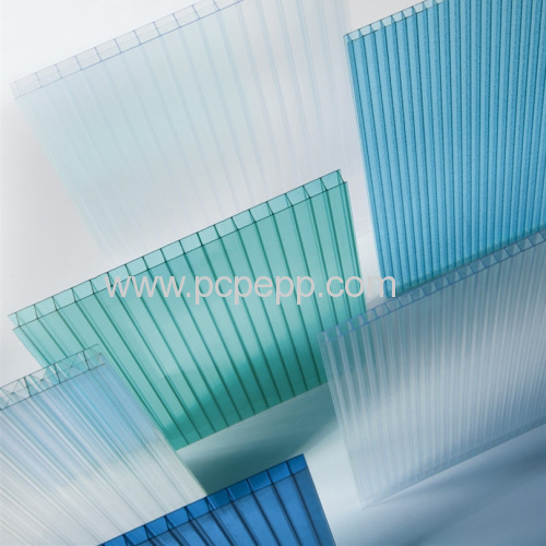 4mm-16mm twin wall polycarbonate sheet sun sheet roofing sheet for builiding materials
