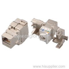 Cat.6 RJ45 180° Shielded Keystone Jack