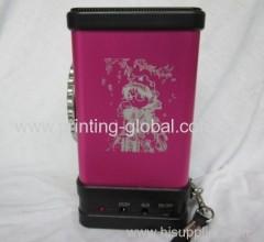 Heat transfer film for matel voice box
