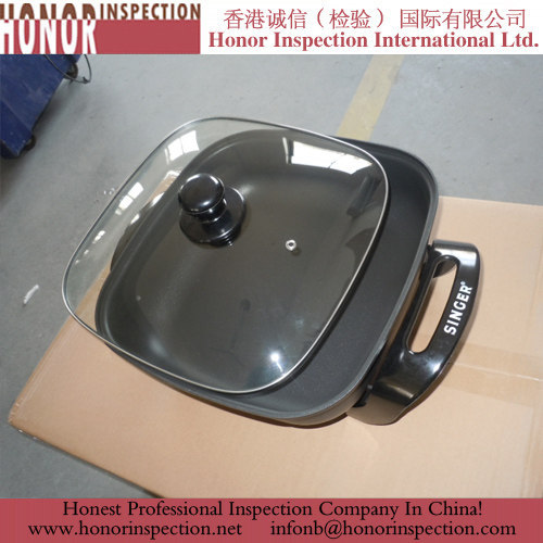 Electric Frypan Pre Shipment Inspection