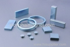 Strong permanent magnet with block