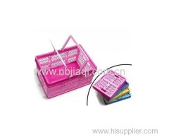 folded basket/Handle shopping basket plastic folding basket