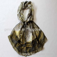 Fashion Polyester lace scarf