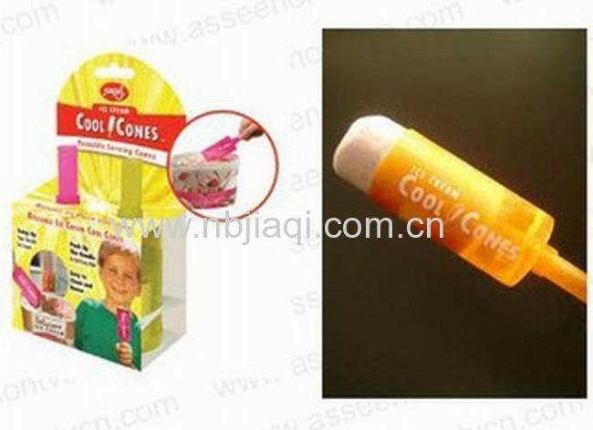 Reusable Ice Cream Cool Cones/factory direct sale Plastic Reusable Ice Cream Cool Cones