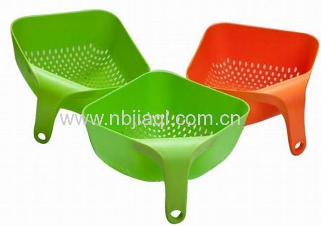 Plastic Square Colander With Handle/Square Colander With Handle Plastic Vegetables Basket Smart Kitchen Gadget