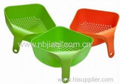 Plastic Square Colander With Handle/Square Colander With Handle Plastic Vegetables Basket Smart Kitchen Gadget