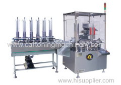 Automatic cartoner for coffee bag