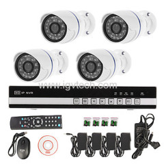 4CH NVR KIT with 720P IP Cameras