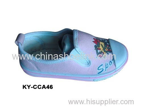 Children Canvas shoes with injection sole (KY-CCA 046)
