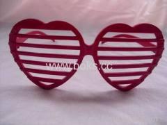 fashion new red plastic glasses