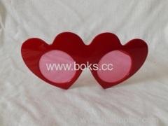 fashion new heart shape plastic glasses