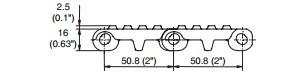 CT800 Cone Top Modular Conveyor Belt
