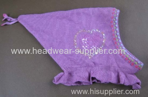 LOVELY BABY HAT WITH HAND SEWING SEQUIN