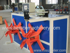 Plastic pipes extruding line
