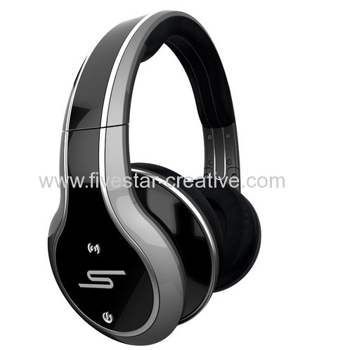 SMS Audio SYNC by 50 Cent Silver Obsidian Wireless Over-Ear Headphones