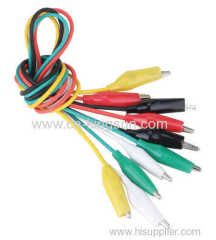 10PCS Test Leads Set Alligator Crocodile Connector Clip Colour Wire Lead 40CM