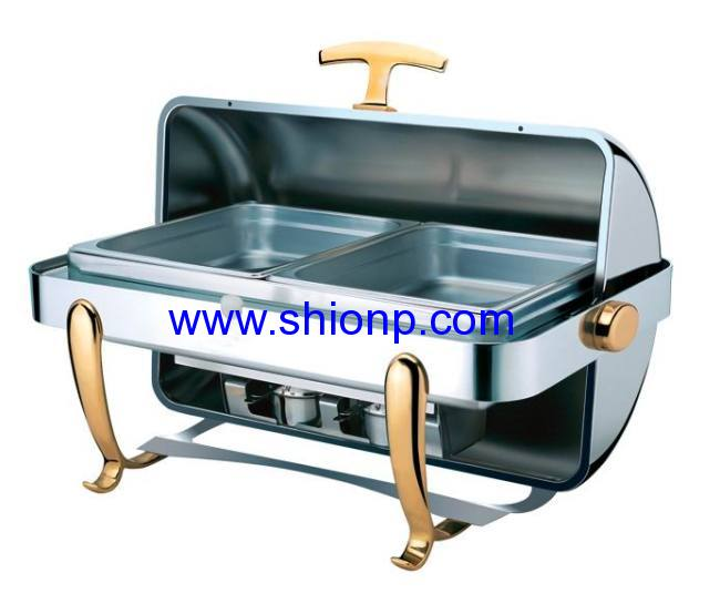 Built-in round stainless steel chafing dishes