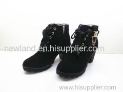 2013 hot sale women micro fibre kitten heel ankle boots