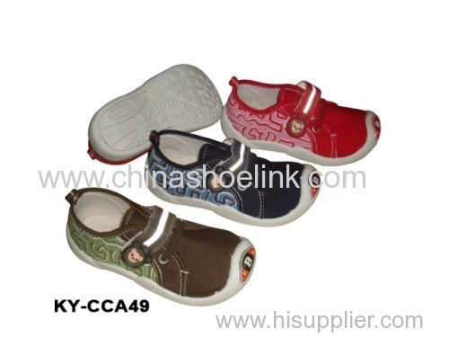 Child slip-on sparx canvas shoe supplier