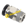 PC Male Connector NPT Push in Fittings, One Touch Instant Fittings