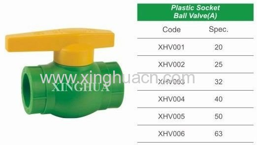 plastic socket ball valve