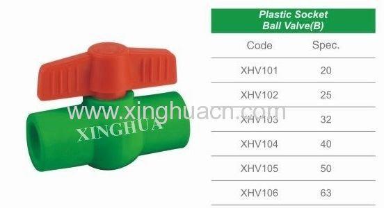 plastic socket ball valve