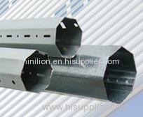 Galvanized steel octangular shutter tube, roller shutter axle