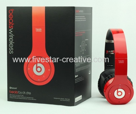 2013 New Design Beats Version Beats Wireless Bluetooth Headphones Red