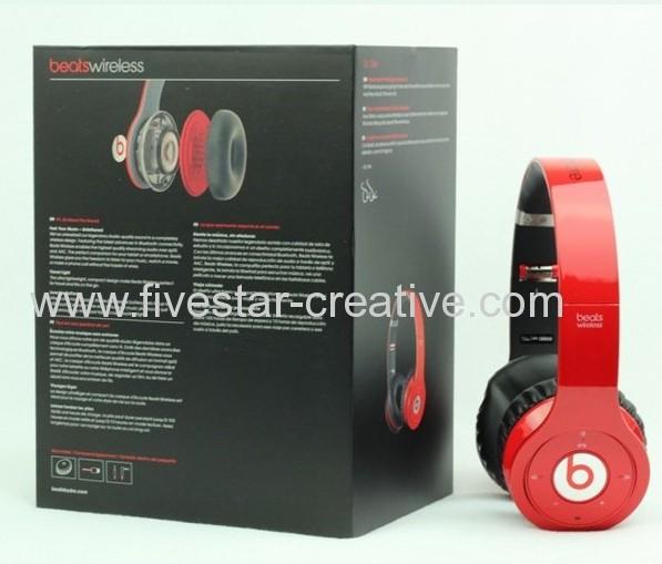 2013 New Design Beats Version Beats Wireless Bluetooth Headphones Red
