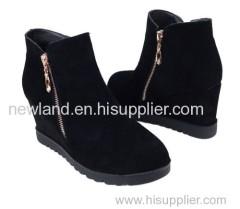 2013 winter lady slipsole nubuck leather ankle boots