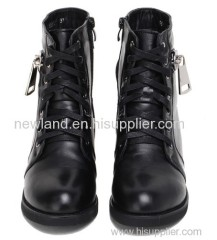 lady cow leather knight boots
