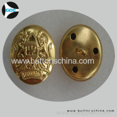 Golden Military button for army garments