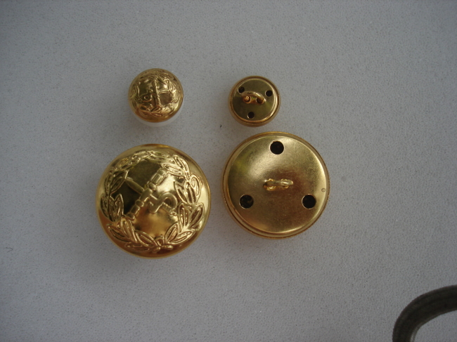 Brass cover sewing button
