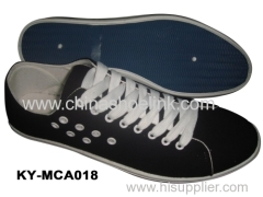Classic canvas shoes with injection sole