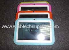 2013 Hot sale child Christmas gift 7inch kids tablet pc Dual Camera Tablet PC cartoon