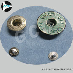 Metal Jean Shank button