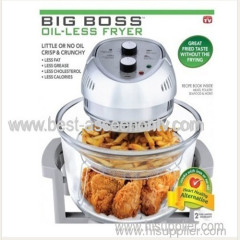 BIG BOSS 1300-Watt Oil-Less Fryer 16-Quart Big Boss Rapid Wave Halogen Infrared Convection Countertop Oven