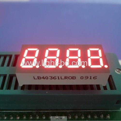 Super Red Cathode 4-digit 0.367-Segment LED Display for temperature indiator