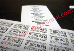 Self design ultra destructible sticker and introduction of Minrui company