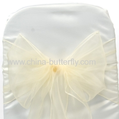 Organza chair sashes/ wedding decoration/Chair bowes/Chair covers