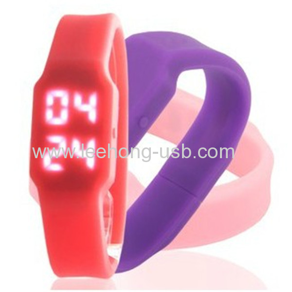 hot selling promotion giftLed usb watch