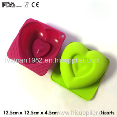 Heart cake mold pudding mould silicone material FDA CE certificate