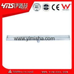Long stainless steel floor drain