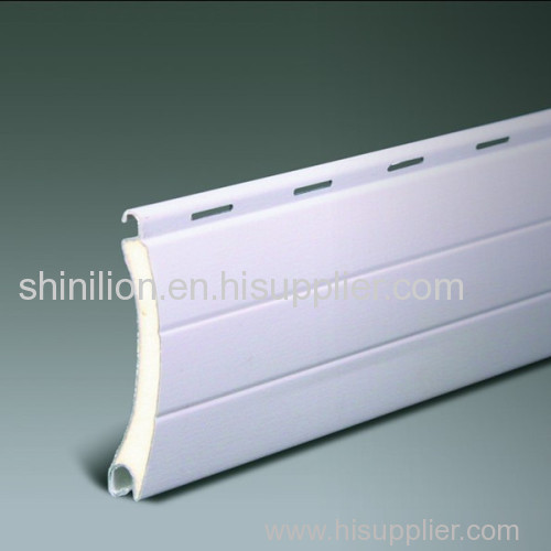 Insulated roller shutter slat, PU foaming rolling shutter slat