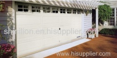 Sectional garage door, galvanized steel garage door