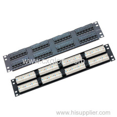 Patch Panel 48 Port Cat.5e Patch Panel 110 IDC