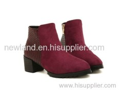 2013 very fashion lady PU short boots thicky heel